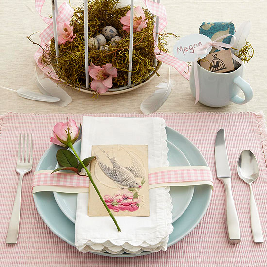 Stylish Easter Place Setting