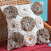 No-Sew Burlap Blooms Pillow