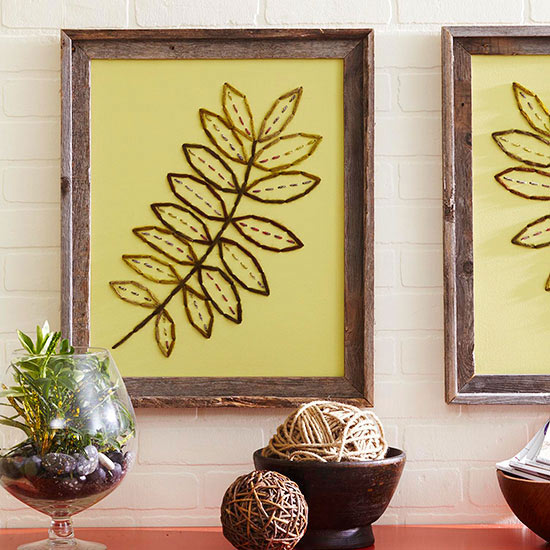 How to Embroider Canvas Wall Art