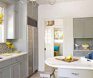 gray kitchen cabinets. Virtually any countertop color looks good with gray kitchen cabinets  You have endless options because works as a neutral hue similar to white brown Gray Kitchen Cabinets