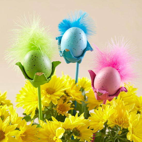 Egg Carton Bird Decorations