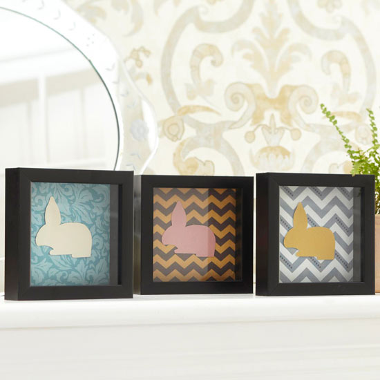 Framed Paper Easter Bunnies