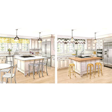 One Kitchen, Two Budgets: Contemporary Style