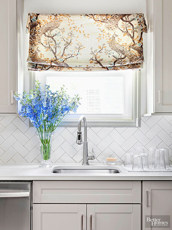 New ways to arrange subway tile Cheap backsplash ideas