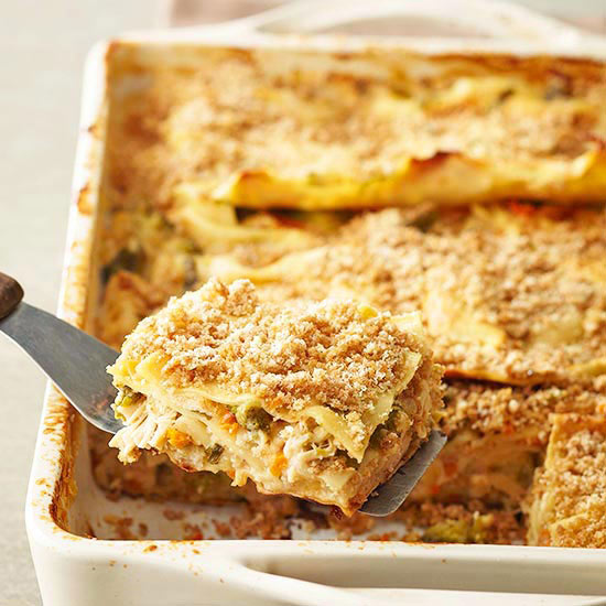 Chicken and vegetable lasagna for Better homes and gardens lasagna