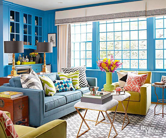 Living Room Color Scheme: Energetic Fun