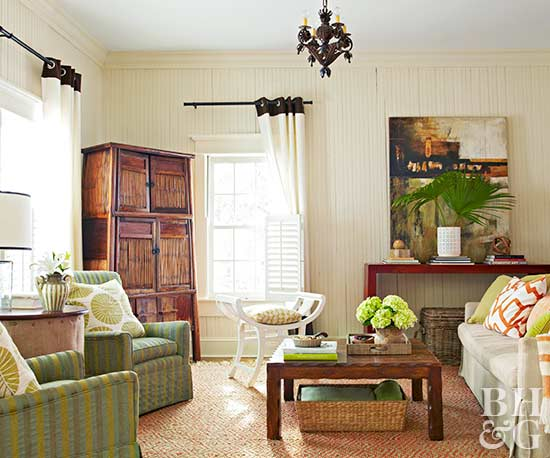 Living Room Color Scheme: Island Cottage