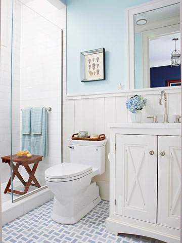 Blue & White Cottage Baths