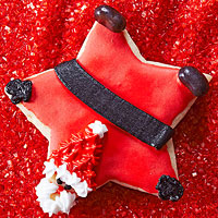 Star Santa Almond Sugar Cookies