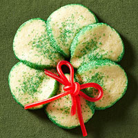 Slice-and-Bake Wreath Sugar Cookies