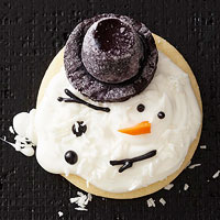Melty Snowman Sugar Cookies