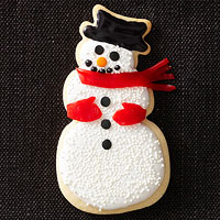Snowman-Shape Cookies