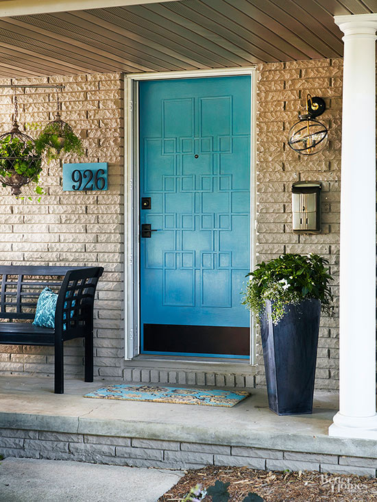 Good Experiment With A Fun Paint Color, Or Add A Little Bling With A Pretty Door  Knocker. If You Have A Plain, Flat Front ...