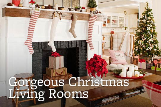 Gorgeous Christmas Living Rooms