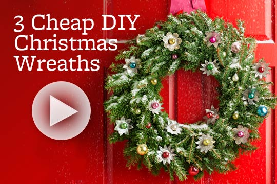 3 Cheap DIY Christmas Wreaths