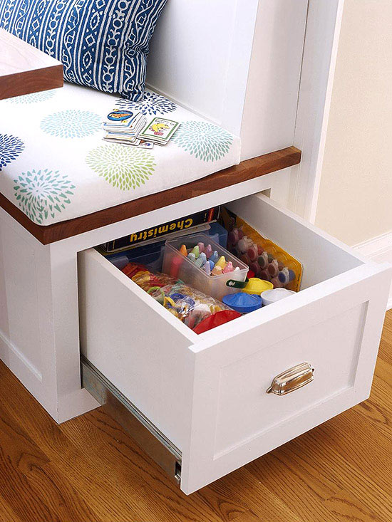 Can you guess the hidden storage spots in this room for Secret drawer kitchens