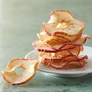 Sweet and Spicy Apple Crisps