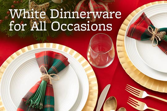 White Dinnerware for All Occasions
