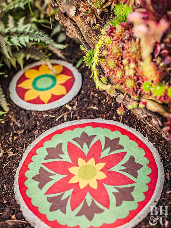 DIY Fabric-Covered Stepping-Stone