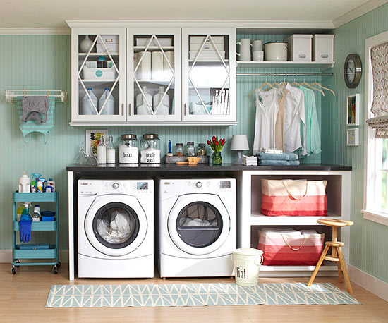Creative Laundry Room Storage + Free Labels