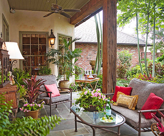 Backyard design ideas for Outdoor room extensions