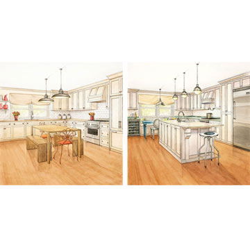 One Kitchen, Two Budgets: Breakfast Nook
