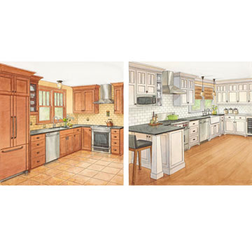One Kitchen, Two Budgets: Craftsman Style