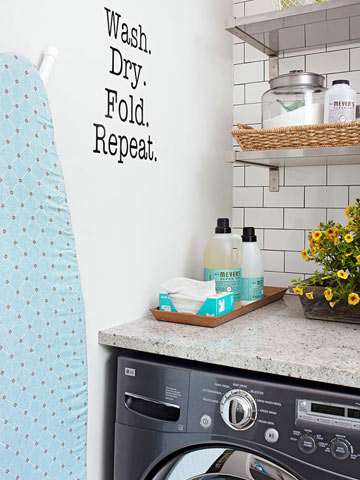 Tricks for a Small Laundry Room