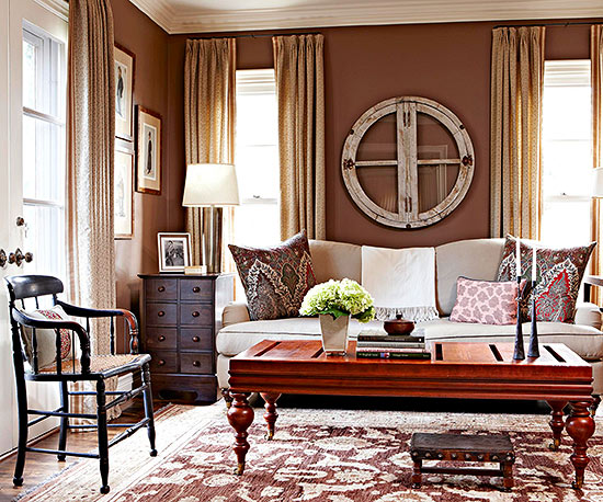 Decorating with color deep toned walls for Wall colors for dark rooms
