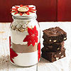 Poinsettia-Topped Brownie Jar