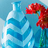 Icy Chevron Vase
