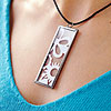 Framed Paper Pendant Necklace