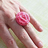 Pretty Button Ring