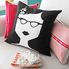 Sweet Specs Retro Pillow