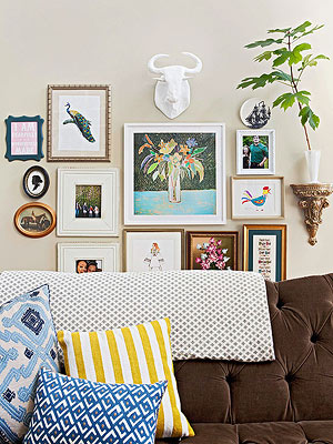 How to Decorate with Pictures