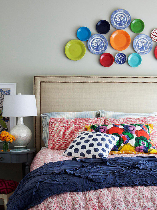 plating up style - Bright Color Bedroom Ideas
