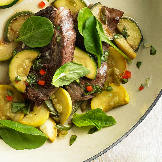 Sizzling Steak with Lime Basil Sauce