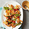 Spicy Shrimp and Sugar Snap Peas Kabobs