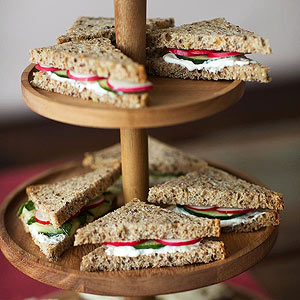 Cucumber Burrata Sandwiches