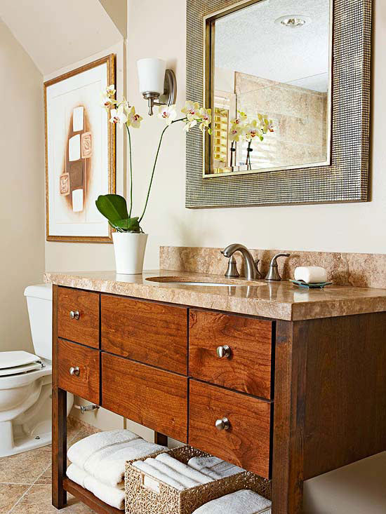 Earthy simplicity for Earthy bathroom ideas
