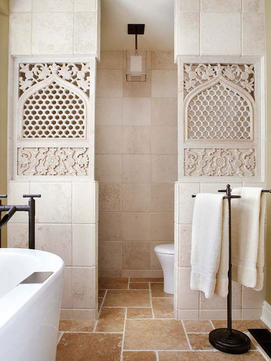 Old world charm for Old world bathroom designs