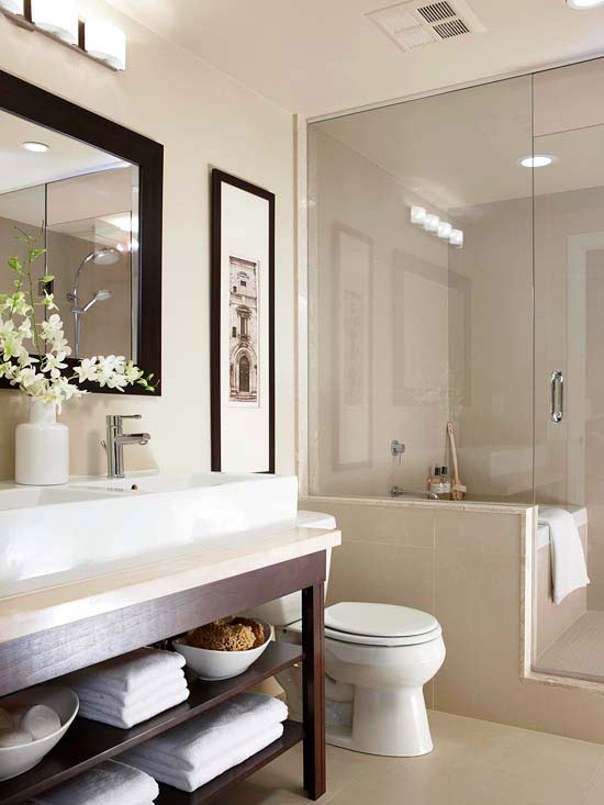 Small bathroom design ideas for Restroom decor ideas