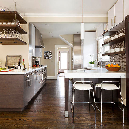 Kitchen Layout Peninsula: Simply Sleek