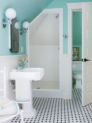 For An Attic Or Upper Level Bathroom Investigate Under The Eaves To See If There S Enough Height To Tuck In A Shower Position The Showerhead At The