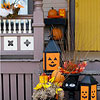 Halloween Planters and Pumpkins