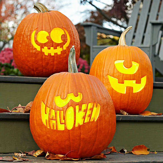 easy pumpkin carving ideas - Pumpkin Halloween Carving