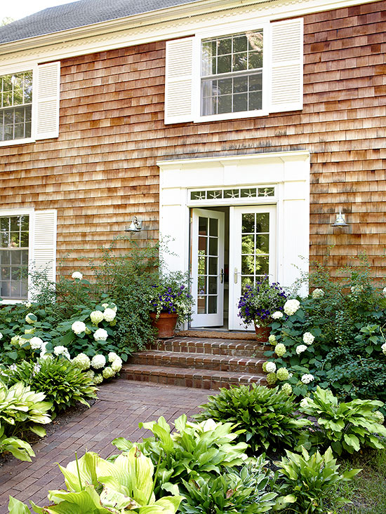 Whether crafted of budget friendly vinyl or high end cedar  exterior  shutters provide a lot of bang for your design buck  The colorful additions  energize a  House Shutters. Flat Panel Vinyl Shutters. Home Design Ideas