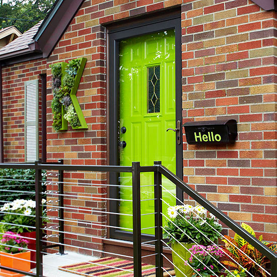 Use Your Exterior Door for a Pop of Color