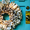 Create a Wreath From Nontraditional Materials