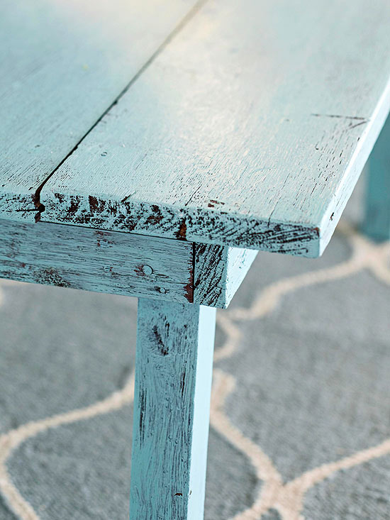 Superb For Distressed Furniture With An Even More Antiqued Look, Very Lightly Sand  The Edges And Corners Of The Table With Fine Grit Sandpaper.